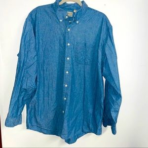 Vintage Ll bean denim shirt xl tall